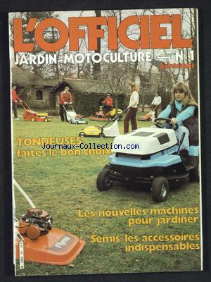 OFFICIEL JARDIN MOTOCULTURE (L') no:1