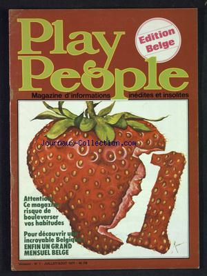 PLAY PEOPLE no:1 01/07/1977