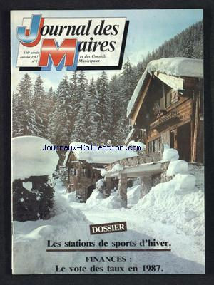 JOURNAL DES MAIRES (LE) no:1 01/01/1987