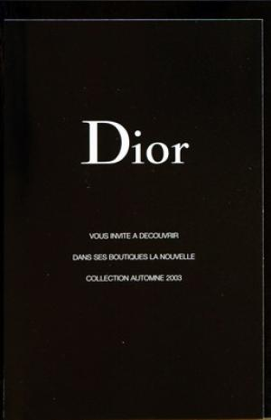 30 09 1999. CHRISTIAN DIOR. COLLECTION AUTOMNE HIVER 1999 - 2000. 15 € 31d987cd833